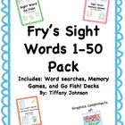 Fry's High Frequency Words 1-50 Pack