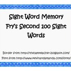 Frys Second 100 Sight Words - Memory
