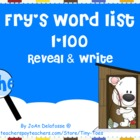 Fry&#039;s Sight Word List 1-100 for SMARTboard - a WINTER them