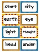 Fry's Word Wall Cards (Words 201-300)  with Blue, Yellow,
