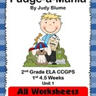 Fudge-a-Mania 2nd Grade ELA CCGPS Unit 1 - WORKSHEETS