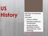 Full Year US History Course- Printable Notes, Narratives,