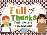 Full of Thanks math centers