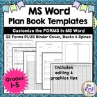 Complete Grade Book Forms Fully Editable in Word Format: 1