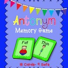Fun Antonyms Memory Game