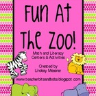 Fun At The Zoo - Math and Literacy Centers Pack