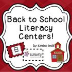 Fun Back to School Literacy Centers!