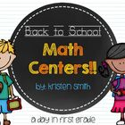 Fun Back to School Math Centers {Common Core Aligned!}