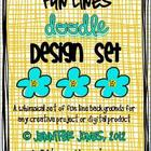 Fun Background Doodle Lines Bundle (Set of 40)