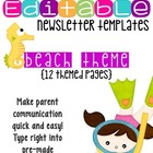 Fun Beach Themed Classroom Newsletters
