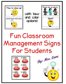 Fun Classroom Management Signs (for Students!)