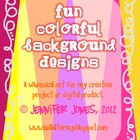 Fun Colorful Background Designs (Set of 42)