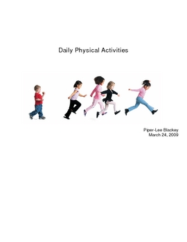 Fun Daily Physical Activities