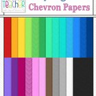 Fun Digital Chevron Papers : Clip Art