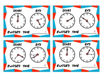 Fun, Elapsed Time Task Cards Set