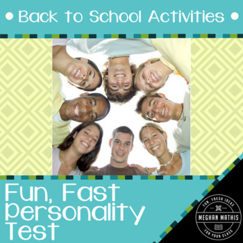 Fun, Fast Activities for Every Classroom - Personality Test