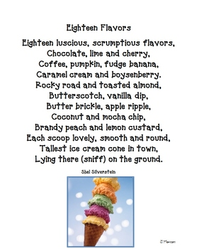 Fun Food Poems and Printables