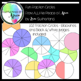 Fun Fraction Circles Clip Art