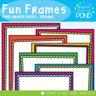 Fun Frames - 28 Bright and Colorful Scalloped Pages