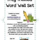 Fun Frog Themed Word Wall