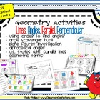 Fun Geometry Activities {lines, angles, parallel, perpendicular}