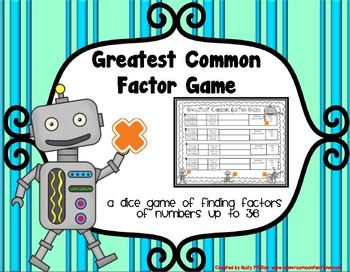Fun Greatest Common Factor Game