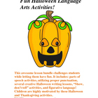 Fun Halloween Grammar & Literary Device Activities