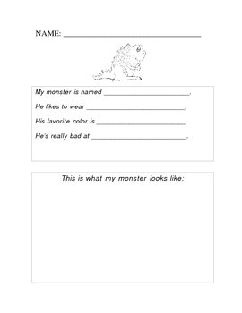 Fun Halloween Writing/Art Center Ideas - 3 pages