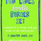 Fun Lines Doodle Border Bundle - (Set of 30)