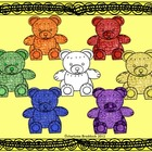 Fun Math Bear Clipart for patterns, colors, sizes, graphin