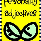 Fun Personality Adjectives Flashcard Games 32 PGS of Words!