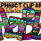 Fun Printed Alphabet Clip Art
