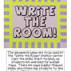 Fun &quot;Write the Room&quot; Pages