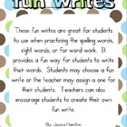 Fun Writes for Spelling and Word Work