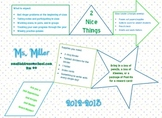 Fun and Simple Syllabus Sheet Template