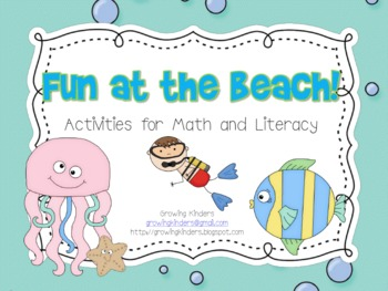 Fun at the Beach! Activities for Math and Literacy!