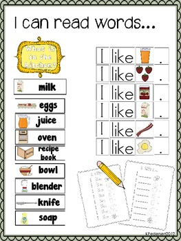 Fun in the Kitchen! Common Core Dramatic Play Kit!