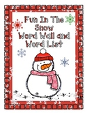 Fun in the Snow Word List and Word Wall Words