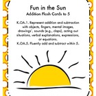 Fun in the Sun Addition Flashcards