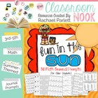 """Fun in the Sun"" Math Prompts"