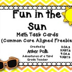 Fun in the Sun Math Task Cards {Common Core Freebie}