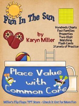Fun in the Sun Place Value - Hundreds Charts & Fact Family