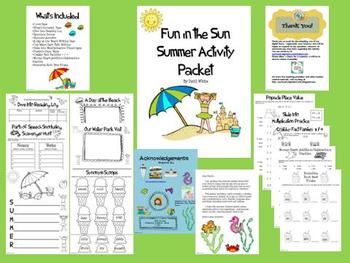 Fun in the Sun Summer Actiivity Packet