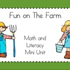 Fun on The Farm Literacy Mini Unit