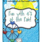 Fun with 4's at the Fair (A Multiplication File Folder Game)