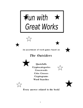 Fun with Great Works: The Outsiders edition--An Entire Boo