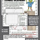Fun zombie graphing worksheet! 5th 6th 7th Middle School e