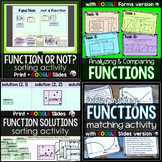 Functions Bundle: Sorting, Matching, Task Cards, Word Problems