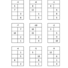 Function Tables: In & Out Boxes: Subtraction