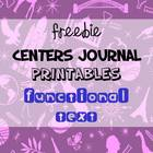 Functional Text: Centers with Journals